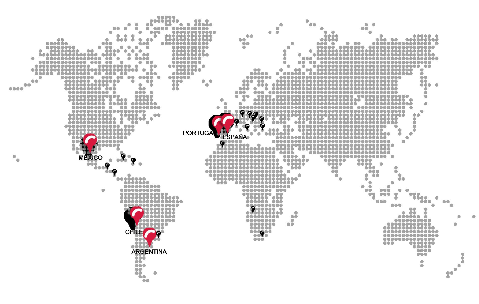 mapa mundi delegaciones
